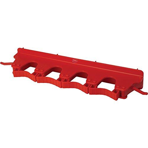 キョーワクリーン 本体 赤 横幅:40cm Vikan(ヴァイカン)ブラケット 6個掛け 10184