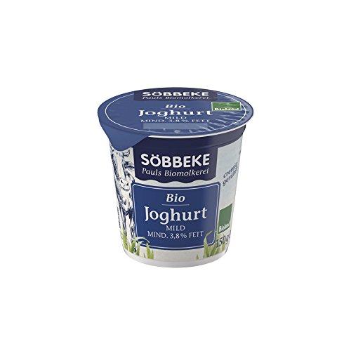 Söbbeke Bio Bio Naturjoghurt mild, 150 gr Becher, 3,8 % (6 x 150 gr)