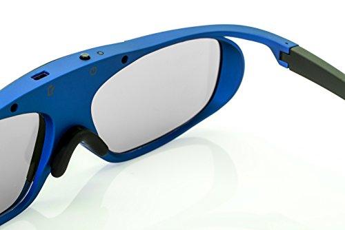 Hi-SHOCK RF Pro Deep Heaven   Funk 3D Brille für JVC & SONY RF Beamer VPL-VW500ES, VPL-VW300ES, VPL-VW520, VPL-VW320, VPL-HW45 ES, VPL HW65 ES / TDGBT500A [Shutterbrille   120 Hz   Akku   32g]