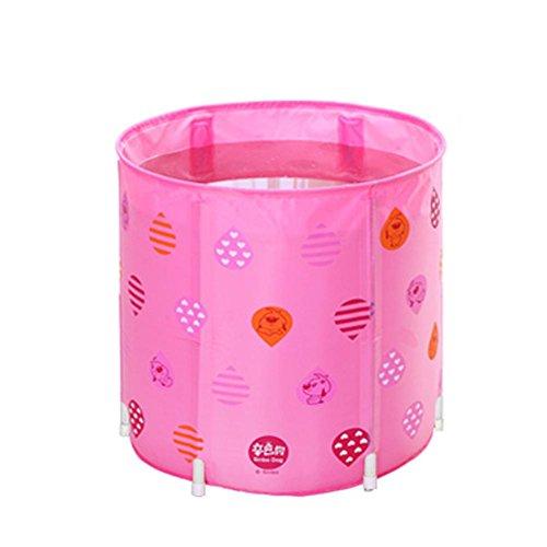 Baignoire gonflable gonflable pliable gonflable pliable pour bébé de piscine d'adultes d'adultes de baignoire d'enfants , Pink , 70cm
