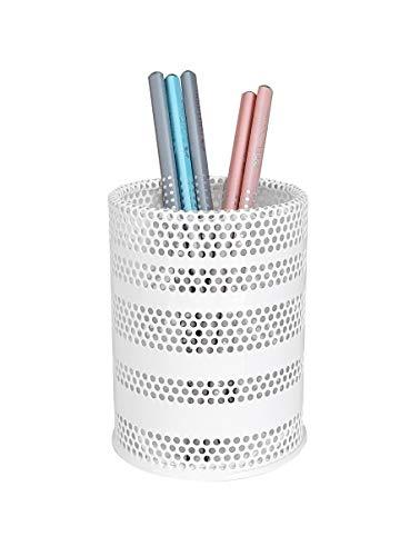 Produco ペン立て 鉛筆立て ペンスタンド 事務 オフィス 机上収納 用品ケース, ブラシスタンド (中) (ホワイト) ( 韓国製)