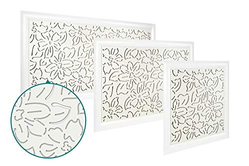 Heizkörperverkleidung | hitzebeständige MDF Platte | Heizung | Abdeckung | modern | Lüftungsgitter | verschiedene Größen | 90 x 60 cm | Blumen