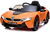 Aneken Kids Ride On Car with Remote Control, 12V Battery Powered Toy , Led Lights/Sound, MP3, 2 Speed, for 2-6 Years Old, Orange