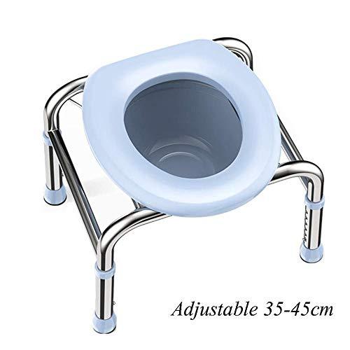 Mobile Klapptoilette, Toilettenstuhl Edelstahlältere Schwangere Frauen, Aluminiumlegierung Duschstuhl, die Toilettensitz bewegen Für Camping Und Wandern Reisen Toilette