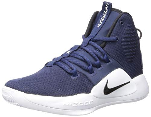 Nike Men's Hyperdunk X Basketball Shoe (13, Navy/White/Black)