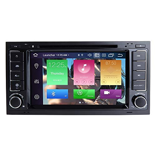 para VW Volkswagen Touareg T5 Transporter Android 10.0 Octa Core 4GB RAM 128GB ROM 7'Reproductor de DVD para Coche Radio Estéreo Sistema GPS Soporte Auto Play/TPMS/OBD/4G WiFi/Dab