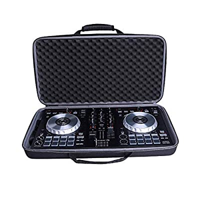 XANAD Case for Pioneer DJ DDJ SB3 two channel DJ controller / Pioneer DDJ 400,Hard EVA Storge Bag-black(black lining)