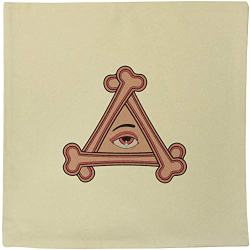 Azeeda 40cm x 40cm 'Triangular Eye & Bones' Canvas Cushion Cover (CV00017859)