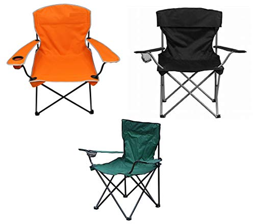Raxter Folding Camping Chair Lightweight Portable Festival Fishing Outdoor Travel Seat (Black)