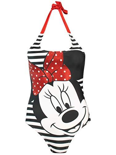 Disney Damen Minnie Mouse Badeanzug Weiß X-Large
