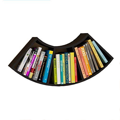 Librerie YANFEI, Mensola a Muro smerlata, Plaid a Parete, Nero, Bianco (Colore : Nero)