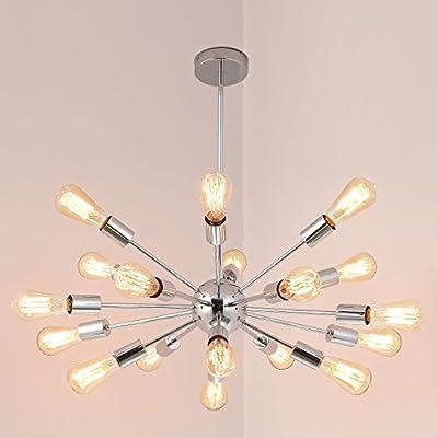 Electro_BP; Vintage Metal Sputnik Large Chandelier Edison Light Fixture Industrial Starburst Lighting Paint Finished
