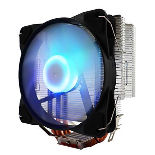 H HILABEE 4 Pin CPU Enfriador radiador disipador de Calor CPU Enfriador Ventilador de refrigeración para dypga775/1155/1156/1366 para AMD/AM2AM2 /AM3/Socket AM4