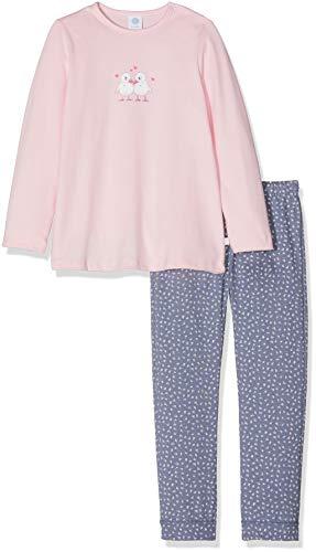Sanetta Sanetta Baby-Mädchen Pyjama Long Zweiteiliger Schlafanzug, Pink (Magnolie 3609.0), 74