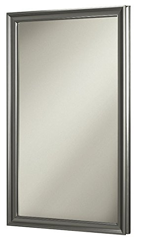 "Jensen 625N244SNPX Satin Nickel Frame Medicine Cabinet, 15.75"" x 25.5"""