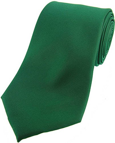 David Van Hagen Cravate Emerald satin de soie de