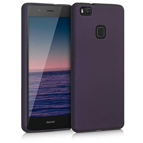 kwmobile Hülle kompatibel mit Huawei P9 Lite - Handy Case Metallic Brombeere