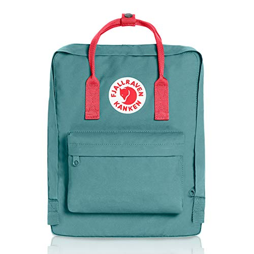 Fjallraven, Kanken Classic Backpack for Everyday, Frost Green/Peach Pink