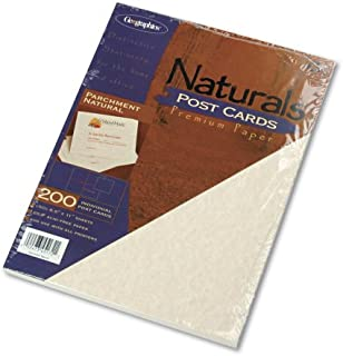 Geographics 4 UP Parchment Postcards, 4.25 x 5.5 Inches, Natural, 200-Sheet Pack (45172)