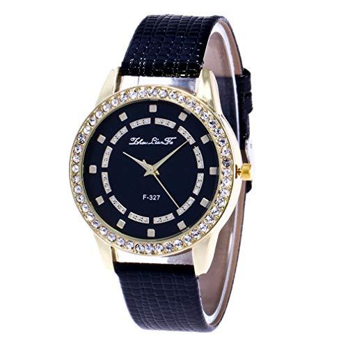 KiyomiQvQ Elegant Diamant Uhren für Damen,Lederband Stahlband Klassisch Armbanduhren Einfach Luxusuhren Zifferblatt mit Diamant Automatikuhrwerk Quarz Uhren