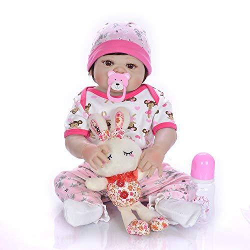 23 Pulgadas Bebes Reborn Girl Doll Full Silicone Vinyl Bonecas Infantil Meninas Realista Toddler Bebe Alive Dolls Gift Bañarse Juguetes