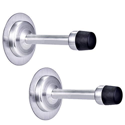 Door Stopper Wall Protector 3m Stainless Steel Door Stops for Wall Door Stopper Sound Dampening Door Bumper 2 Pack