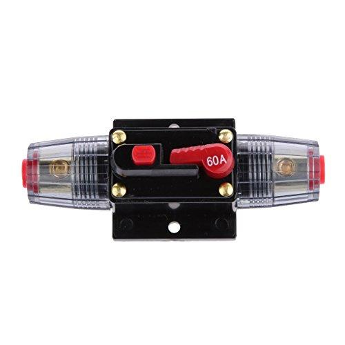 Generic 12V-24V Inline Auto eistungsschalte Manuellen Reset Schalter Car Audio Sicherung - 60a
