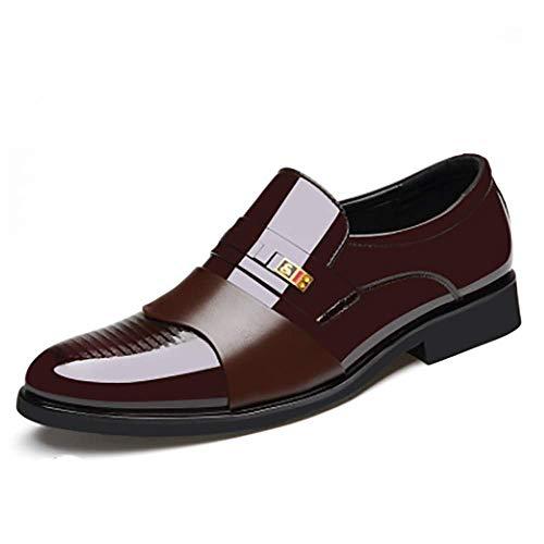 TTCXDP schoenen voor heren van Oxford, elegant, schoenen, werkschoenen, van leer, ademend en draagbaar, geschikt voor bruiloften
