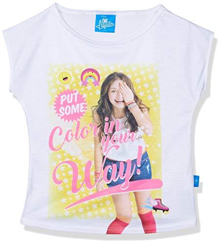 Soy Luna SLM9269CP Blanco 8 Blusa para Niñas, Color Blanco, 14