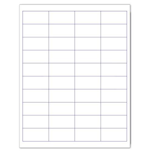 "Laser/Ink Jet White Labels (2"" x 1"" - 40 Per Page   1000 Labels)"