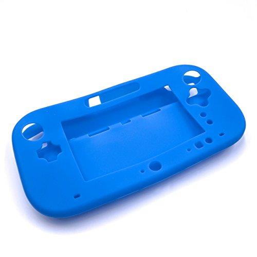 vhbw Hülle, Case Silikon blau passend für Nintendo Wii U Gamepad Spielkonsole, Controller