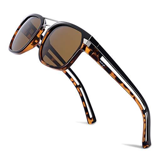 Donahugh Gafas de sol de diseño para hombres y mujeres, polarizadas, retro, gafas de sol