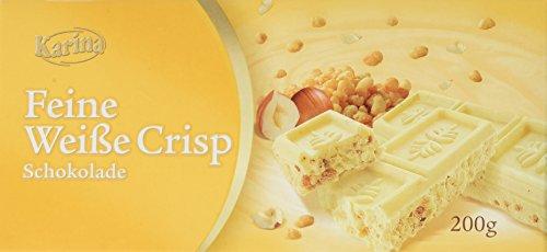 Karina Schokoladentafel Weiße Schokolade Crisp, 10er Pack (10 x 200 g)