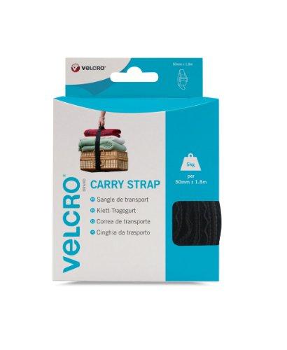 VELCRO - 1 CARRY strap 50mm x 180cm schwarz - 1 Klett-Tragegurte (BxL) 50mm x 180 cm schwarz