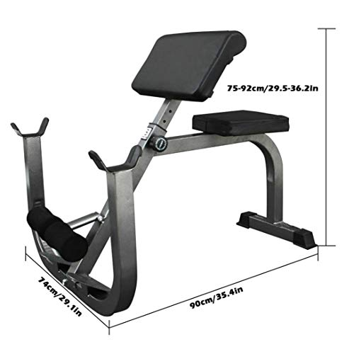 GY613 Preacher Arm Curl Weight Bench, Isolated Barbell Dumbbell Biceps Station,Roman Chair for Upper Limb Muscle Strength Training