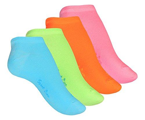VCA 8 Paar Damen Sneaker Socken bunt gemischt, Mädchen Füßlinge aus Baumwolle