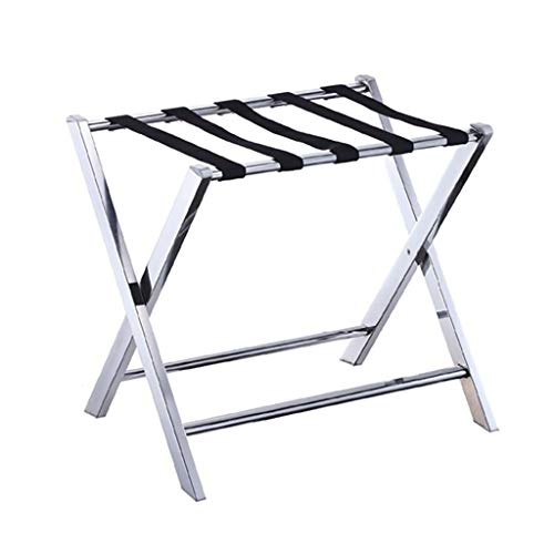 Best Deals! Luggage Rack - Made of Solid Stainless Steel - Foldable Design -W60 x D45 x H54.5cm - fo...