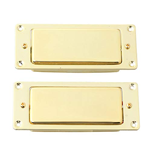 LYWS Noiseless Mini Humbucker Pickup Guitar Pickup Set Bridge and Neck for LP Les Paul Guitar (Gold)
