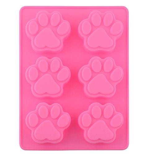 Reizender süßer Multifunktionshundetatzen Silikon Form Eis Würfel Kuchen Seifen Backen Form Küche Accessoriess