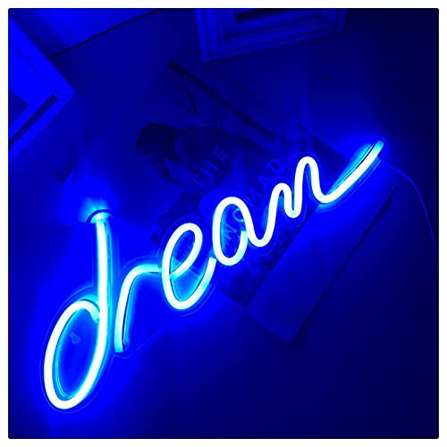 YEHEI Dream Neon Signs, LED Neon Wall Art Colgando para Barra Bar Pub Pub Party Decor