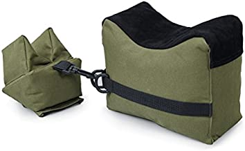 VIVOI Unfilled Shooting Rest Bag Front & Rear Bag Rifle Gun Sandbag for Outdoor Shooting (Green + Black)