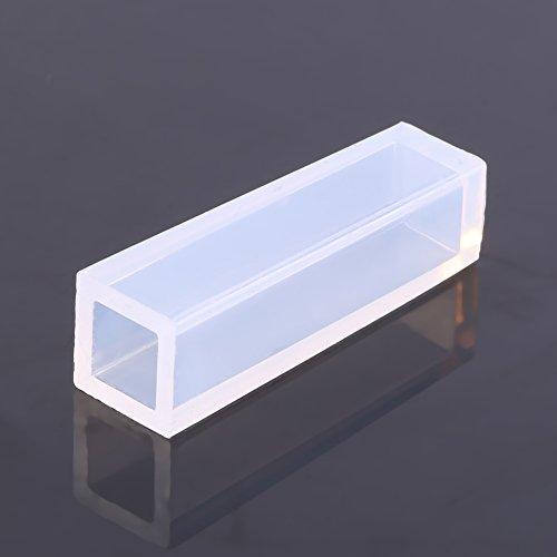 Weikeya Molde de silicona adecuado, 5 cm hecho de gel de sílice llavero joyería resistencia al calor para hacer colgante de resina