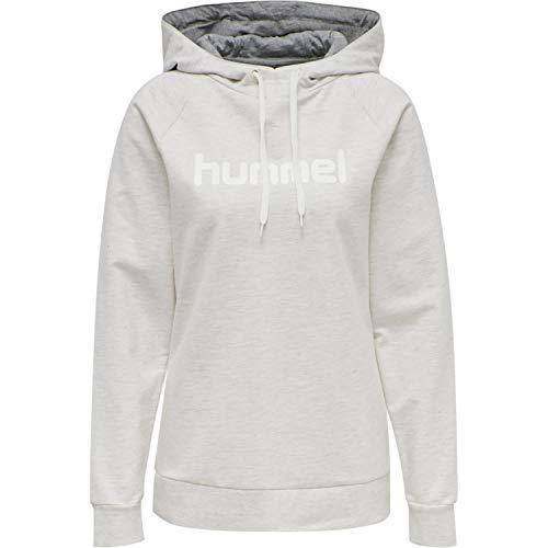 Hummel Hmlgo Cotton Logo Hoodie Woman - egret melange