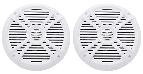 """Pair Rockville RMSTS80W 8"""" 1000w Waterproof Marine Boat Speakers 2-Way White"""