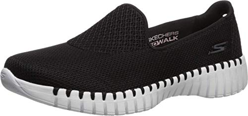 Skechers Damen GO Walk SMART-16700 Turnschuh, schwarz/weiß, 43 EU