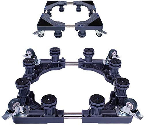 Dongyd Washing Machine Base With 8 Foot And 4 Wheel Lockabled Mobile Stand Rack Adjustment Frame Pad Foot Roll Bracket (Color : Gray)