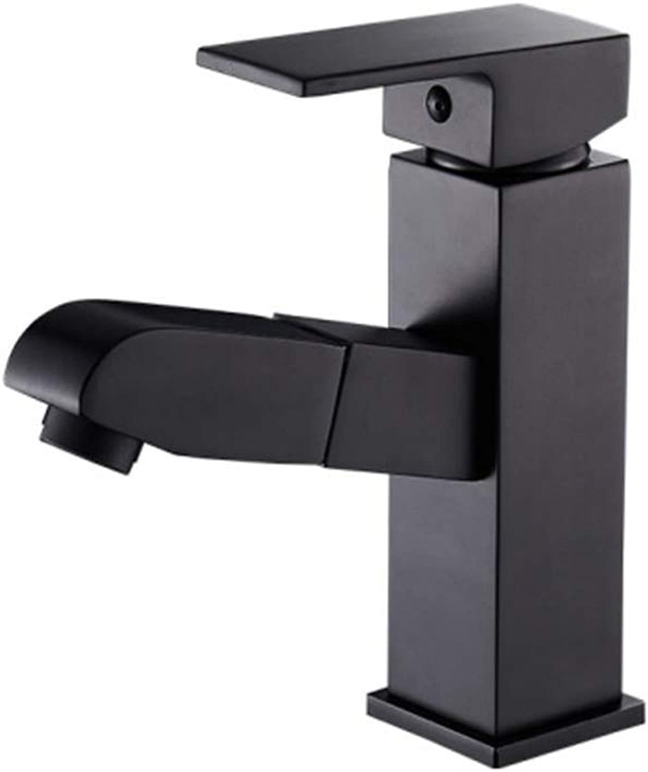 Kitchen Taps Faucet Modern Kitchen Sink Taps Stainless Steelbathroom Draw Faucet Cold and Heat Expansion Copper Bathroom Face Pot Faucet Washing Basin Faucet Black Toilet Faucet