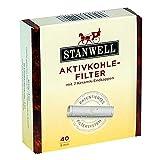 Stanwell Aktivkohle Pfeifen-Filter 9mm 40 Stück