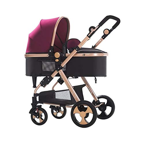 Great Deal! LXJ Baby Stroller,High-View Baby Stroller, can sit,Infant Toddler,Reclining and Folding ...