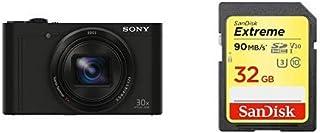 ソニー SONY デジタルカメラ DSC-WX500 光学30倍ズーム 1820万画素 ブラック Cyber-shot DSC-WX500 BC + SDカード